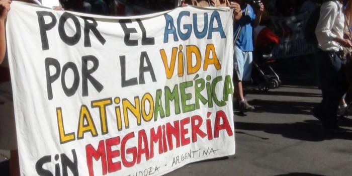 No a la mineria a cielo abierto. Ciudad de Mendoza, Mendoza