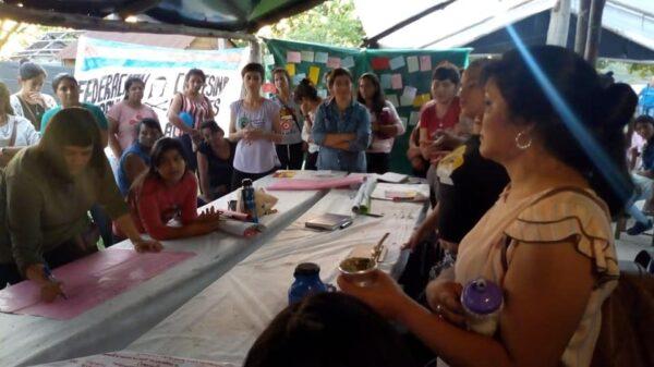 Taller de género en la Federación Campesina Guaraní
